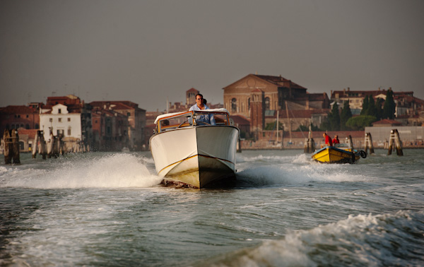 Speedboat in Venice