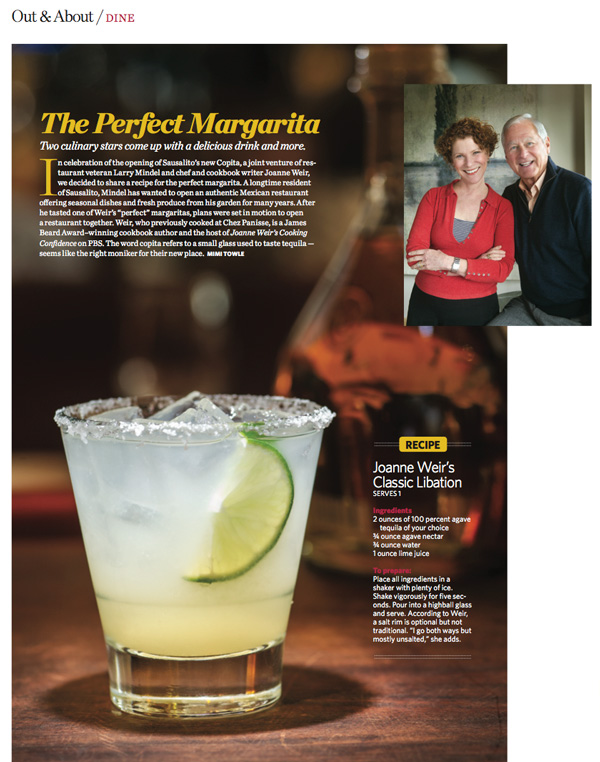 Copita margarita, with Larry Mindel and Joanne Weir