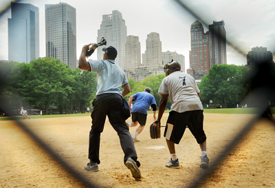 Softball game in Central Park
