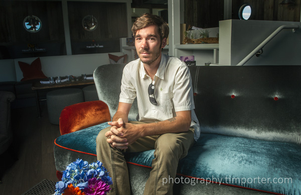 Nate Seltenrich, Oakland writer, inside Terrapin Crossroads