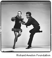 Richard Avedon and Twiggy 