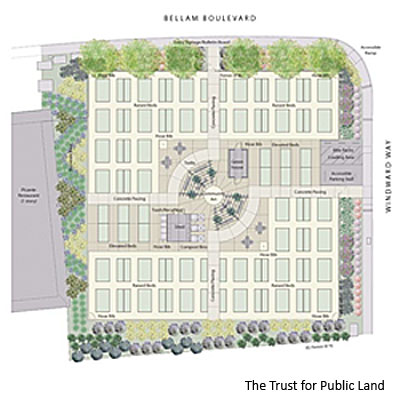 Canal Community Garden map