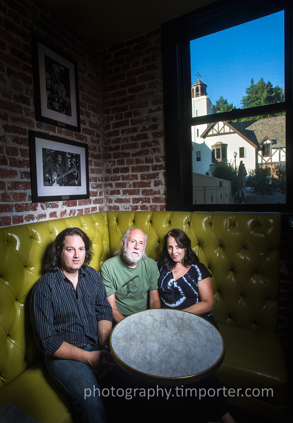 John Goddard, Monroe Grisman, Gillian Grisman, at Sweetwater in Mill Valley.