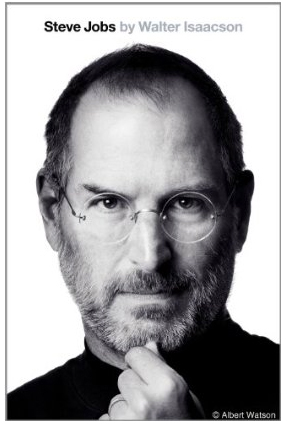 Cover of Walter Isaacson biography of Steve Jobs