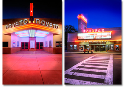 Novato and Fairfax theaters