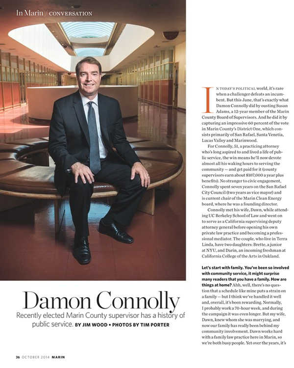 Damon Connolly Marin Magazine