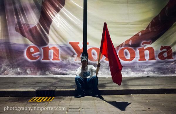 Mexico, Oaxaca, zócalo, protest